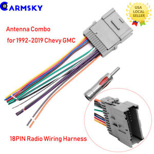 antenna connector 18pin radio wiring harness for 2000 13. Black Bedroom Furniture Sets. Home Design Ideas