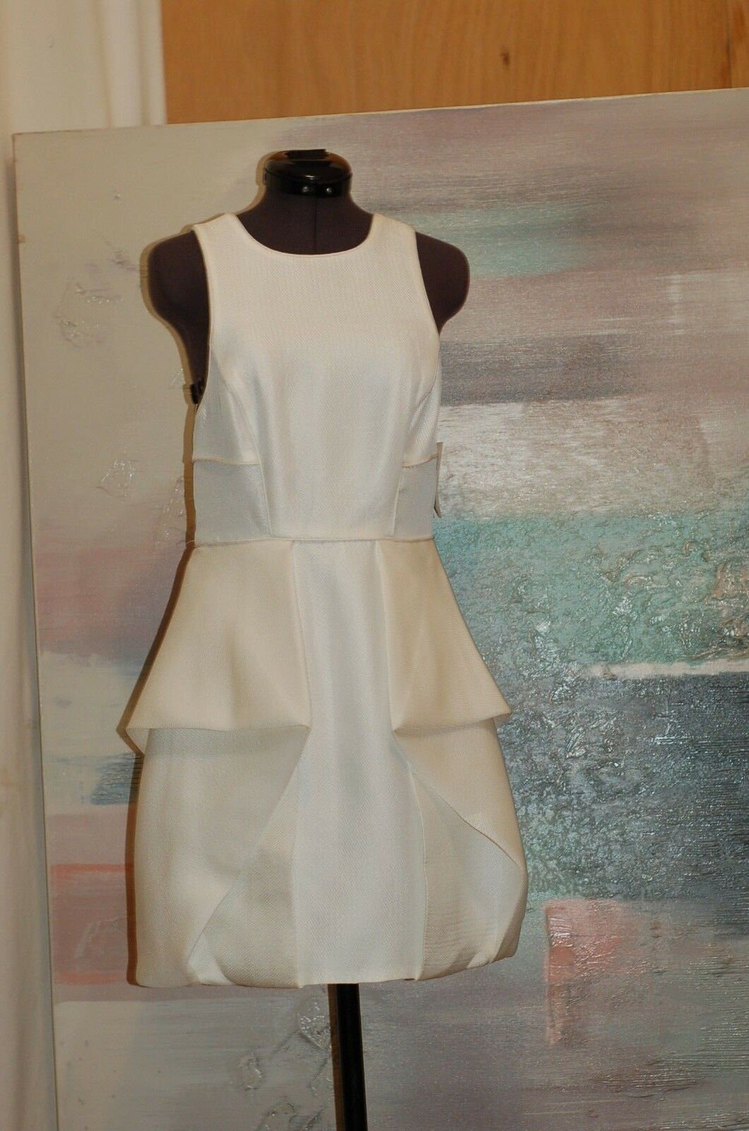 Tibi Weiß New  Dress Größe 4 Sleeveless Open Back Mini NWT Bloomingdale's   440