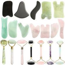 Natural Jade Guasha Facial Massage Jade Roller Face Body Massager Beauty Tool