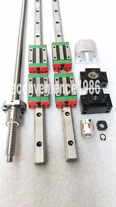 HGR20-800mm-Hiwin-Linear-rail-amp-HGH20CA-amp-RM2505-300mm-Ballscrew-amp-BF20-BK20-Kit