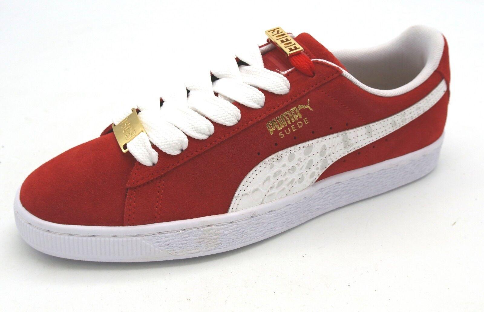 J7691 New Men's Puma Suede Classic BBoy Fabulous Red White Sneaker 10.5 M