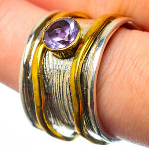 Amethyst-Copper-925-Sterling-Silver-Ring-Size-8-5-Ana-Co-Jewelry-R28818F