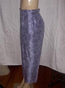 100 pantaloni Chaus nuovi etichetta Lavender taglia Josephine 8 seta Paisley senza BRtxq