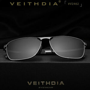 7096257a3b Image is loading VEITHDIA-Men-039-s-Polarized-Sunglasses-Pilot-UV400-
