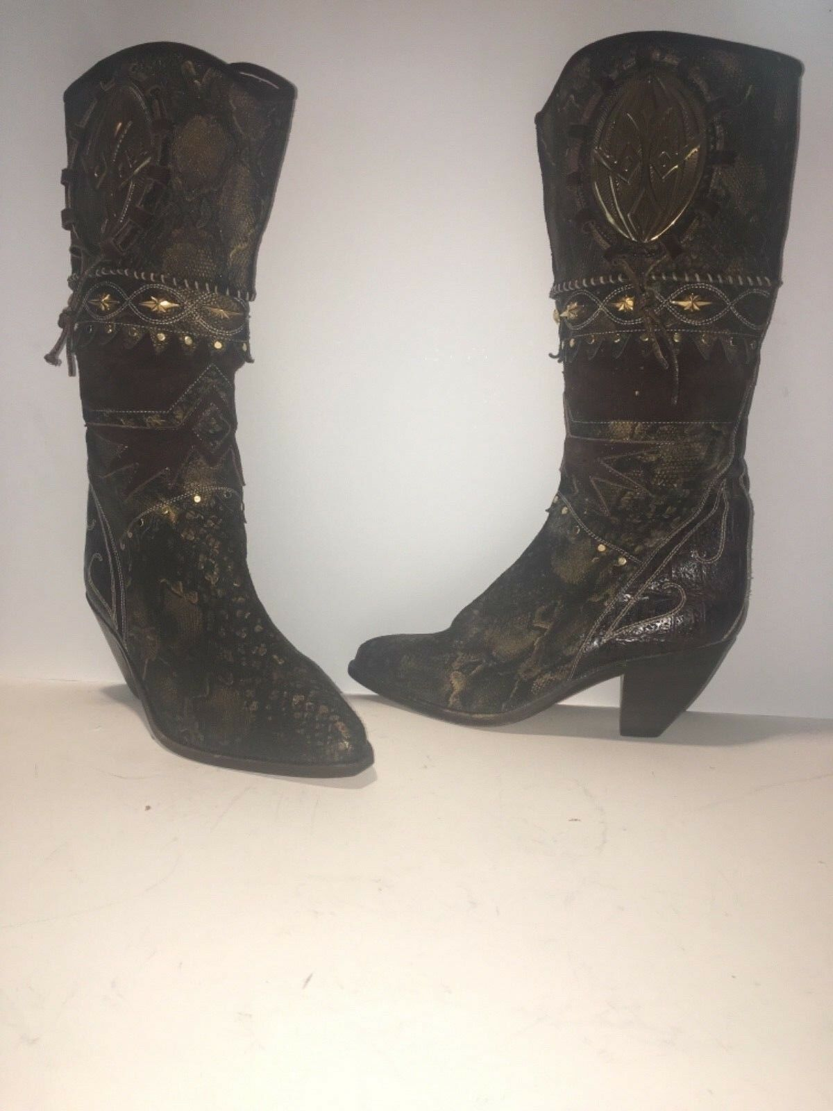 fabbrica diretta El Vaquero Donna  reptile snakestudded stivali western cowboy cowboy cowboy Dimensione 37.5 M  di moda