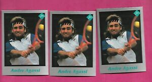 3-X-RARE-ANDRE-AGASSI-TENNIS-PLAYER-CARD-INV-C3264