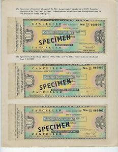 INDIA-SPECIMEN-TRAVELERS-CHECK-IN-BANK-FOLDER-CENTRAL-BANK-OF-INDIA