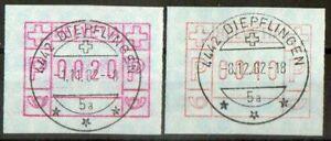 : Type 4 sbk 4 atm Postautomation Ch Spätverwendung Diepflingen 1982 Feine Verarbeitung