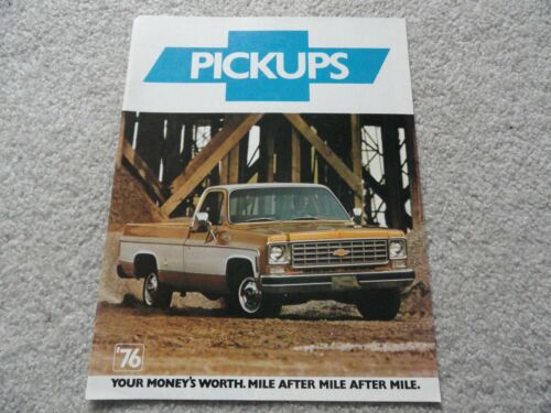 1976 Chevy Truck  Sales Brochure