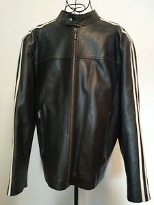Vintage-60-039-s-70-039-s-Style-Leather-Jacket-Size-42-Chest-Smart-Retro-Cafe-Racer