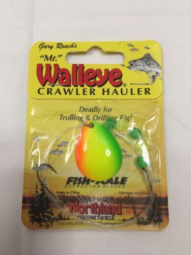 Walleye Crawler Hauler bright orange and yellow trolling Details about  /Mr