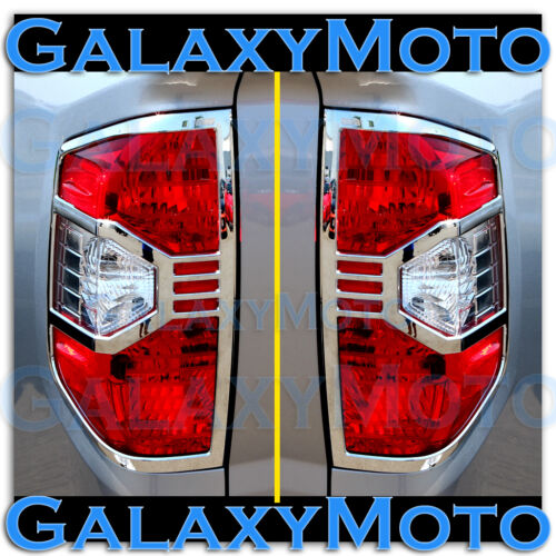 14-16 Toyota Tundra Crewmax Double Cab Truck Chrome Taillight Trim Bezel Cover