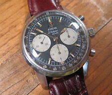 .Rare Vintage 1966 Enicar Sherpa Graph 300 Val 72 Chronograph Mk III 2343 Watch