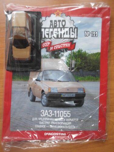 Deagostini ZAZ-11055 TAVRIA AUTO UdSSR #199 1:43 scale Russische Magazin NEU OVP