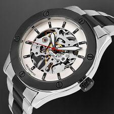 Breda Skeleton Genuine Mechanical Timepiece 17 Jewels SS Link Bracelet  NEW
