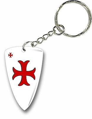 Keychain stripe key lanyard flag keyring ring car jdm remote knights templar