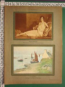 C1930-Francese-Stampa-L-039-Illustrazione-Marcel-Baschet-Duchessa-Di-Brissac