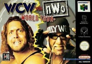 N64/Nintendo 64-WCW vs nWo World Tour con embalaje original OVP dañado