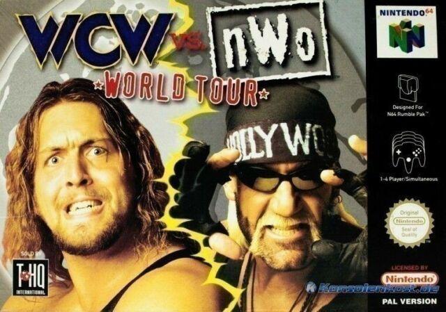 N64/Nintendo 64-WCW vs mondialistes World Tour avec NEUF dans sa boîte neuf dans sa Boîte Endommagée