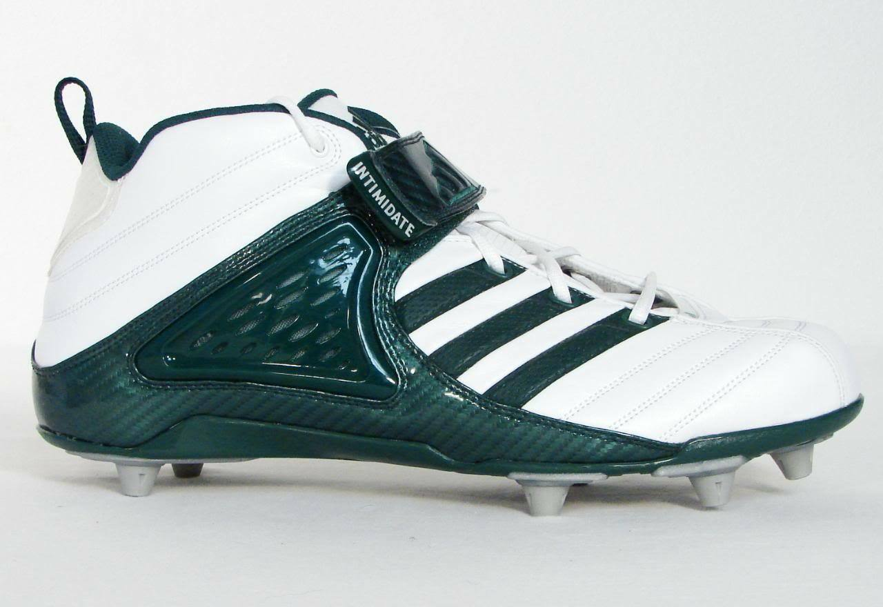 Adidas Pro Intimidate D 3 4 Football Cleats White & Green NEW