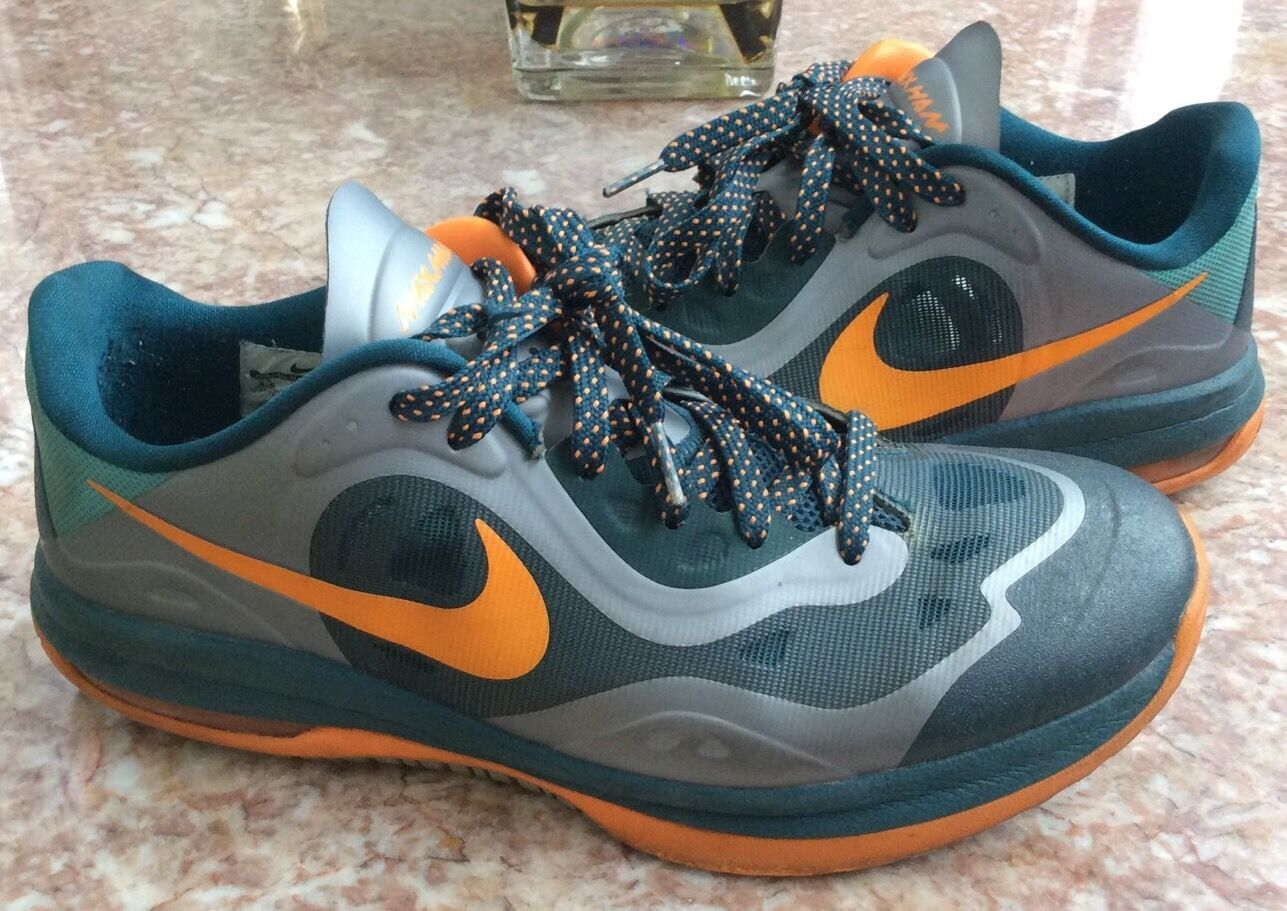 NIKE Air Max Ham Men's Orange Forest-Green Basketball Shoes Comfortable Great discount