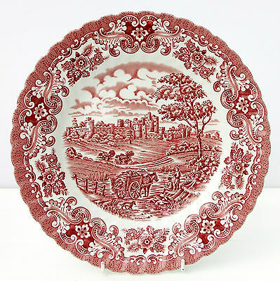 Vintage British Anchor Red White Dinner Plate Olde Country Castles