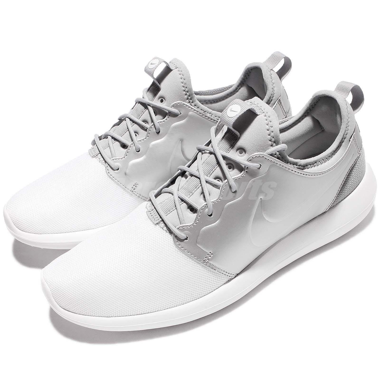Nike Roshe Two 2 Rosherun Metallic Argent Men Running Chaussures Baskets 844656-100
