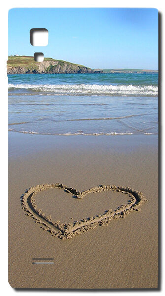 CUSTODIA COVER CASE CUORE SPIAGGIA MARE HEART LOVE AMORE PER LG OPTIMUS L9 P760