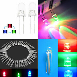 5-8-10mm-RGB-Common-Anode-Cathode-LED-Lamp-Red-Green-Blue-milk-white-Clear