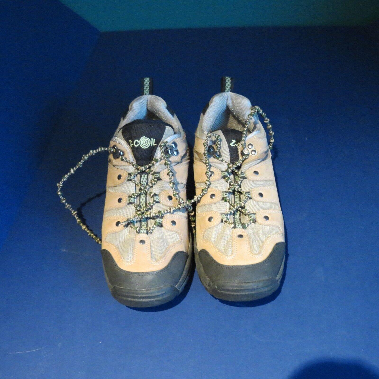 Excellent état utilisé Z-Coil soulagement douleur Chaussures femmes 10 Tan Z-Trek utilisés 1 semaine nouées Lacets