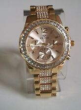Men's  hip hop Bling Rapper clubbing style Gold finish ICE STAR fashion  watch