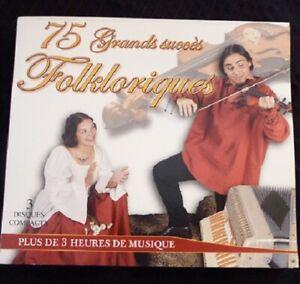 Triple-Digipack-CD-75-Grands-Succes-Folkloriques-CPM-Canada-Records-Album