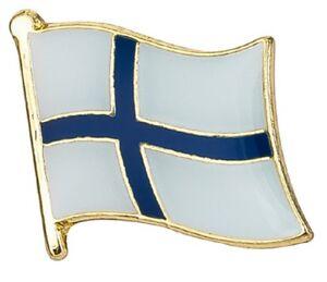 Finland Flag Finnish Pin Lapel Badge Suomi High Quality Gloss Enamel