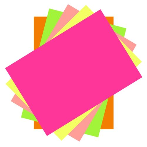 100 Sheets Of Neon Lumi Colours A4 Thin Printer Copy Paper 80 gsm Arts /& Crafts
