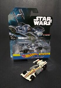 2016 Mattel Hot Wheels Star Wars Tie Fighter and X-Wing Car Ships