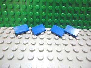 Lego 4 Yellow 1x2 Roof Finishing Tile 30 degree slopes NEW