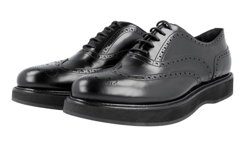 shoes PRADA LUXUEUX 1E526G black NOUVEAUX 41 41,5 UK 8