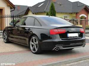 audi a6 c7 4g limo rear diffusor spoiler sline for. Black Bedroom Furniture Sets. Home Design Ideas