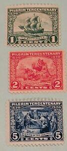 Scott-548-550-1920-Pilgrim-Tercentenary-Mint-NH-OG-Single-Stamp-Set-Lot-3