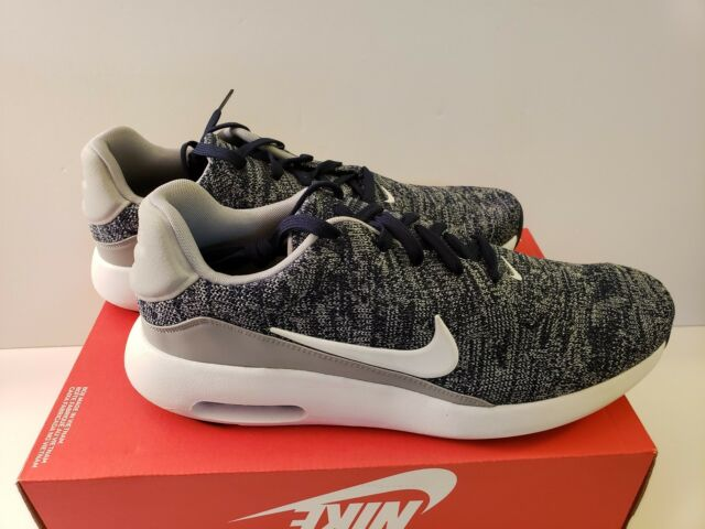 NIKE AIR MAX MODERN FLYKNIT Size 11.5 COLLEGE NAVY WHITE WOLF GREY 876066 400