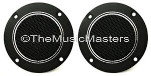 Pair-4-034-inch-Flush-Mount-Round-Super-Horn-TWEETER-Speakers-Car-Audio-Home-Stereo