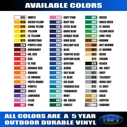 5136-H Hood Flames Vinyl Graphics Decals CAR TRUCK High Quality EgraF-X