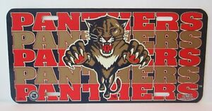 Vintage-1993-Florida-Panthers-6-x-9-Plastic-License-Plate-Tag-NHL-Hockey