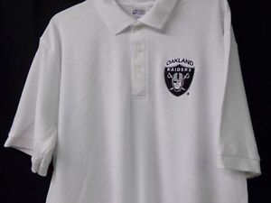 Image is loading NFL-Football-Oakland-Raiders-Mens-Embroidered-Polo-Shirt-