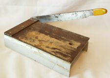 Vintage Hand Made Cigar Cutter Paper Cutter Trimmer Lever Guillotine