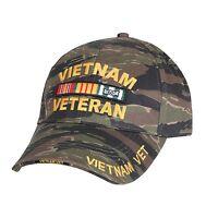 Vietnam Veteran Tiger Stripe Ball Cap Army Marine Corps Navy Usaf Uscg Vet Hat
