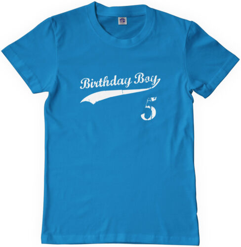 Threadrock Kids Birthday Boy 5 year old Youth T-shirt happy 5th five