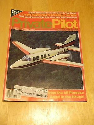 Enthusiastic Mag Back Issue Private Pilot Jan 1987 Flying The All-purpose Angel In The Rough