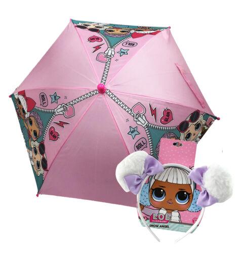 "LOL Surprise Kids Umbrella with Clamshell Handle w///""Snow Angel/"" Headband"