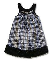 Boutique Lipstik Girls Sz 7 Black Jewel Sequins Dress Holiday Pageant $95